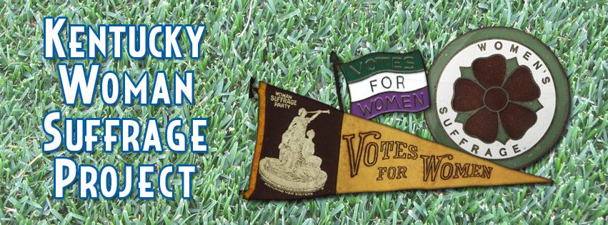 Kentucky Woman Suffrage Project banner
