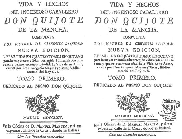 Los Quijotes Del Siglo Xvii 1 La Imprenta De Manuel Martín Por